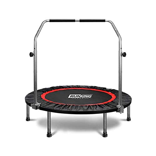 LKNJLL Foldable Portable Trampoline, 40 Inch Max Load 200 Lbs Trampoline Mat Exercise Fitness Trampoline for Indoor/Garden/Workout With Rope Jumping (40'')