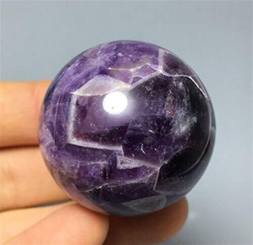 ACEACE 1Pcs 40MM Natürliche schöne Fantasie Amethyst Quarz-Kristall-Kugel-Kugel-Sammler Jadeware Hauptdekoration