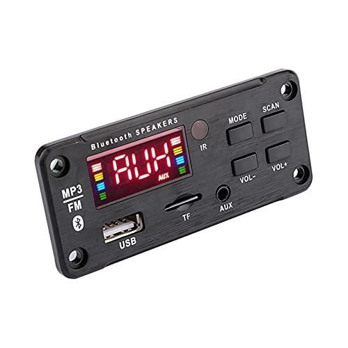 IOUVS Audio DE Coche MP3 Reproductor de música Decodador de decodificador Pantalla de Color AUX USB TF FM Bluetooth 5.0 Módulo de decodificación DIY Amplificador de Altavoces