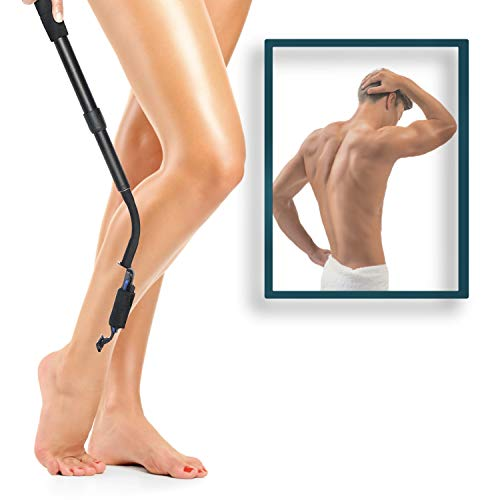 Smooth Reach Long Razor Extension Handle - Leg Hair Removal for Women – Pregnancy Razor Extender, Limited Mobility Tool - Hair Trimmer and Back Shavers for Men - by Pickery Products