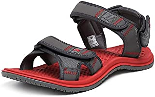 Wildcraft Men's Joo Red/Grey Sport Sandals WC 51556 RED_Grey - 10 UK/India (44 EU)