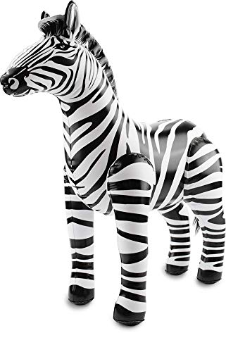 Folat 20273 Aufblasbares Zebra Schwarz-Weiβ, keine, Einheitsgröße