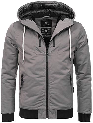 Navahoo Herren Winter Jacke leichte sportliche Jacke robust wasserabweisend Winddicht B623 [B623-Hunter-Grau-Gr.XXL]
