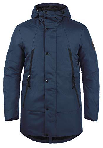 Blend Talan Herren Winterparka Parka Winterjacke mit Kapuze mit hochabschließendem Kragen, Größe:XXL, Farbe:Dress Blues (194024)