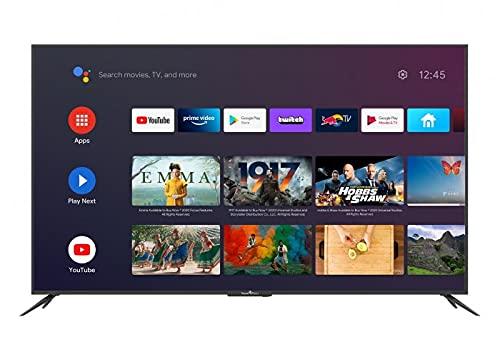 Smart-Tech SMT65E1MUC2M1B1 164cm (65 Zoll) LED Fernseher Smart TV (4K UHD, Android 9.0, Google Assistant, Google Play, Prime Video, Netflix, Chromecast) Schwarz