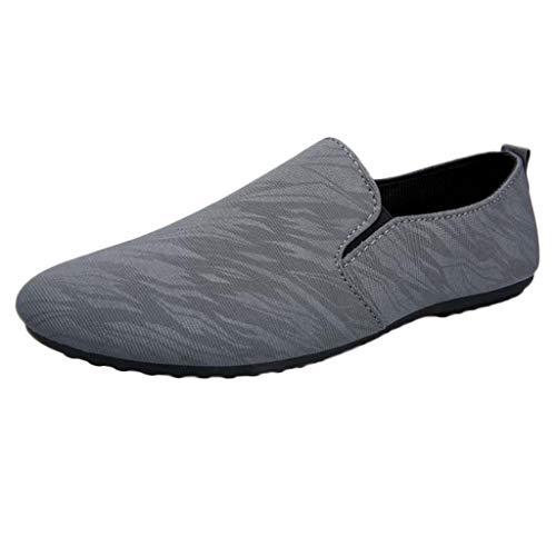 LILICAT Zapatos Retro Holgados para Hombres de Moda Zapatos Casuales de Guisantes Zapatos Casuales de Inglaterra