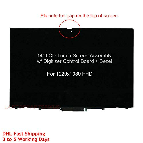 Great Price! for Lenovo New 14 FHD (1920X1080) LCD Touch Screen Digitizer with Bezel Frame Assembly...