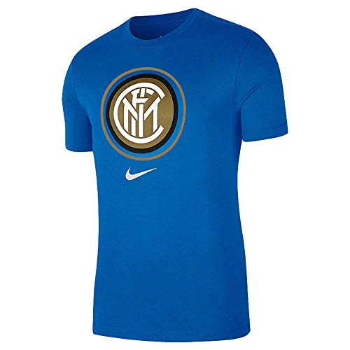 NIKE Inter M NK tee Evergreen Crest T-Shirt, Hombre, Blue Spark