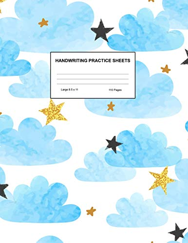 Handwriting Practice Sheets: Cute Blank Lined Paper Notebook for Writing Exercise and Cursive Worksheets - Perfect Workbook for Preschool, ... 3rd and 4th Grade Kids - Product Code A4 3385