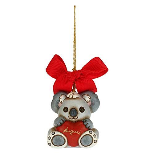 THUN - Addobbo per Albero di Natale Koala - Decorazioni Natale Casa - Formato Piccolo - Ceramica - 4,2 x 3,8 x 5 h cm