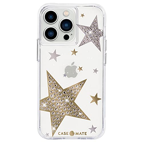 Case-Mate - Sheer Superstar - Case for iPhone 13 Pro Max - Rhinestone Stars - 10 ft Drop Protection - 6.7 Inch - Sheer Superstar