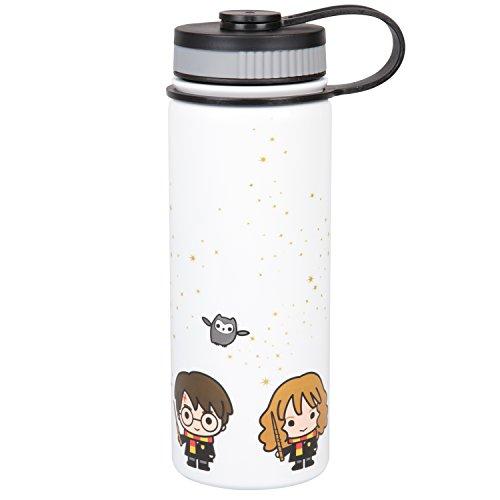 Underground Jouets Trinkflasche aus Harry Potter mit Harry, Ron und Hermine Charakter Design 550 ml Edelstahl