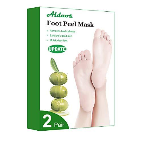 Fußpeeling Maske | 2 Pairs | FußMaske Hornhaut Entfernung | Socken Hornhaut entfernen | Repariert Raue Fersen | Foot Scrub | Baby Feet | Naturgel Anti Hornhaut Socken für Frauen & Männer