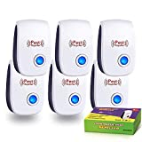 Bocianelli Ultrasonic Pest Repeller, 6 Pack Electronic Plug in Mouse and Rat Repeller, Pest Control Insect and Spider Repellent Mice Repellent for Mosquitos, Flies, Roaches, Rats, Mice
