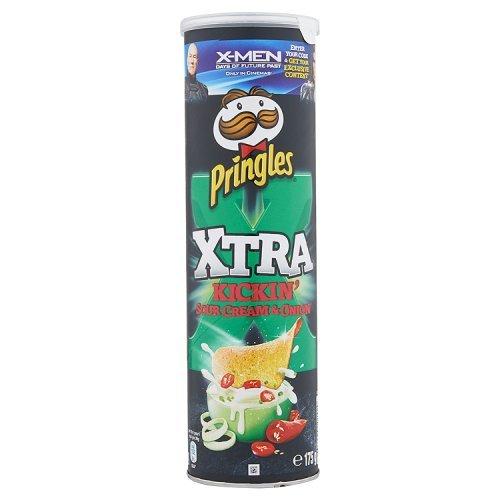 Pringles Xtra Kickin Crema Agria y Cebolla 175g