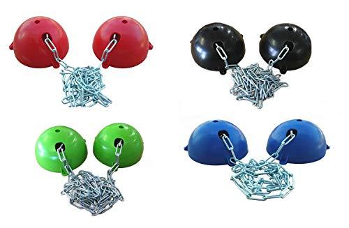 netproshop Gewa Deckenhalter Flexibel durch Kette bis ca 1,45 Meter Breite, Farbe:Rot
