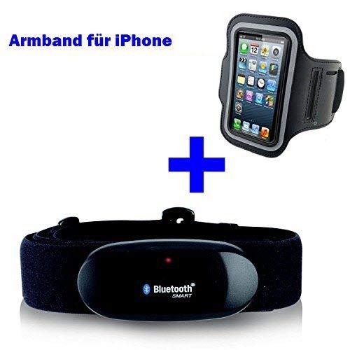 Sangle de poitrine 4.0 + Bracelet Bluetooth pour iPhone 6 +/6 plus ou 7 +/7 Plus pour Runtastic, Runtastic Pro application