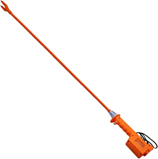 M.Z.A Livestock Prod Electric Cattle Prod Long Stock Prod Stick for Cow Pig Sheep 41.3 Inches Batteries-Operated Orange