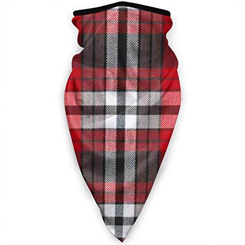 Lfff Winddichte Sport-Bandana-Gesichtsbedeckung Rot Weiß Schwarz Plaid Multifunktions-Sturmhaube für den Außenbereich