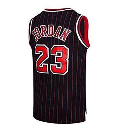 ccaat Gott des Basketballs Jersey Michael Jordan #23 Chicago Bulls Basketball Trikot für Herren Retro Gym Weste Sport T-Shirt, S-XXL (s, Schwarze Streifen)