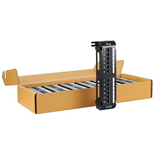 ICC CAT6 Vertical Patch Panel with 12 Ports in 6-Pack