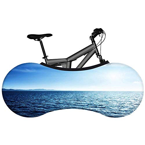 WYBD.Y Funda Universal para Bicicleta - Nivel del mar - La Mejor solución para Mantener los Pisos y Las Paredes Libres de Suciedad 99% de Todas Las Bicicletas para Adultos, A