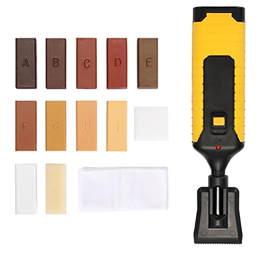 Kit de reparación de piso laminado Tabla de trabajo Muebles Chips arañazos Sistema de cera herramienta