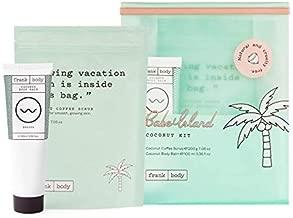 Frank Body Babe Island Kit | Coconut Body Scrub & Coconut Body Balm | Exfoliating Coffee Scrub And Moisturizing Oil-Based Body Lotion For Healthy, Glowing Skin | Make With Grapeseed & Coconut Oil