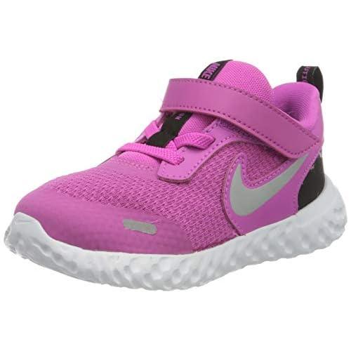 Nike Revolution 5 (TDV), Scarpe da Ginnastica Unisex-Bambini, Fucsia (Active Fuchsia/Metallic Silver/Black), 26 EU