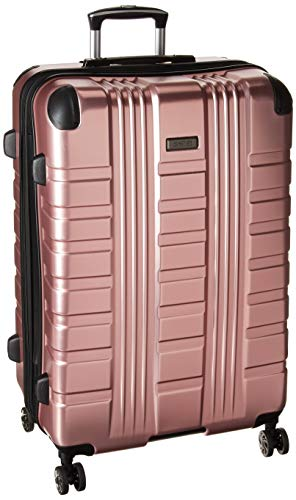 Kenneth Cole Reaction Scott's Corner Hardside Expandable 8-Wheel Spinner TSA Lock Travel Suitcase, Rose Gold
