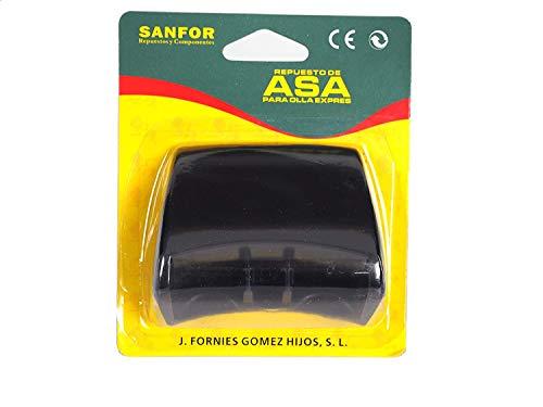 Sanfor Negro | 7 x 8 x 5 cm Blíster Asa para Olla a presión Adaptable Magefesa con Tornillo Fácil...