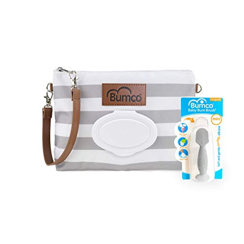 Diaper Clutch Bag and Mini Rash Cream Applicator with Travel Case, Soft Flexible...