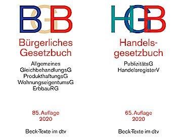 BGB + HGB im Bündelset zur Prüfungsvorbereitung neueste Auflagen