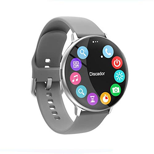 DHTOMC Smart Watch C6 Smart Watch, 3,3 cm Full Round Screen IP67 Wasserdicht Bluetooth Zifferblatt mit Herzfrequenzüberwachung Sportuhr Reloj Inteligent, für iOS Android Daily Wear/A (Farbe: C)