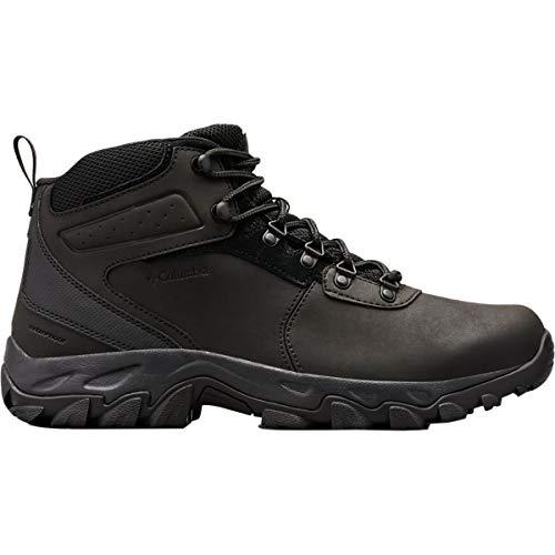 Columbia Men's Newton Ridge Plus II Waterproof, Zapatos para Senderismo Hombre, Multicolor Negro Y Negro, 47 EU
