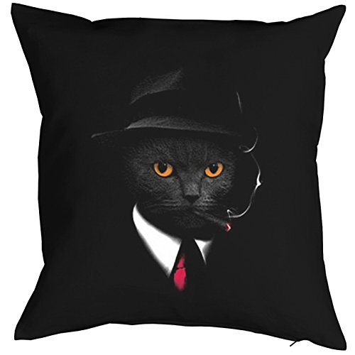 Agent Cat Cat Chats Gatti Gatos Coussin, Pop Art Style