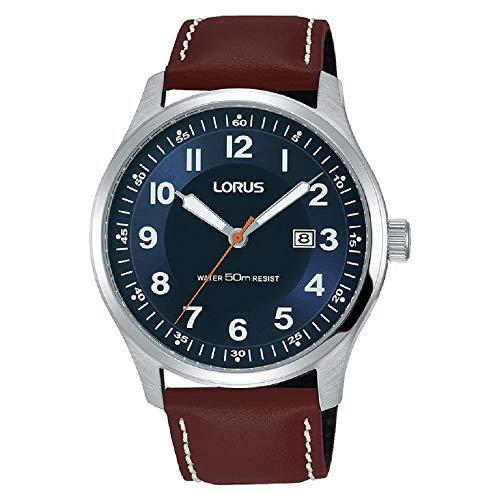 Lorus Reloj para Hombre Esfera marrón rh943hx9Correa Azul