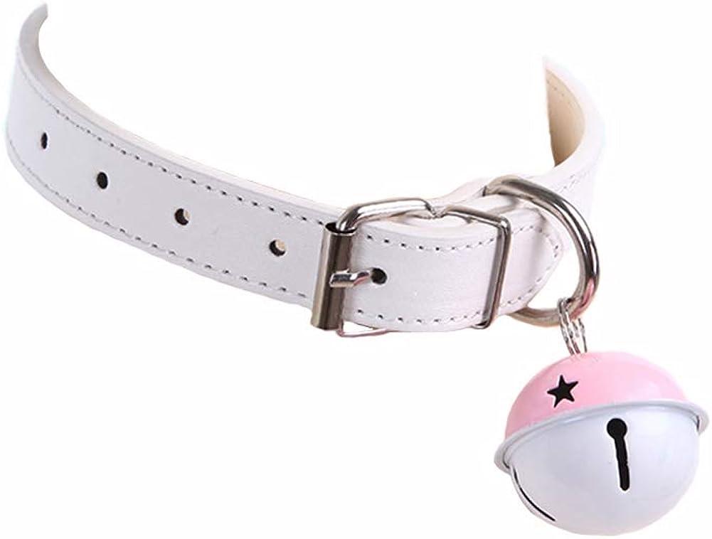 Joyralcos Anime Lolita Cosplay Kitty Bell Women Leather Choker Collar Necklace