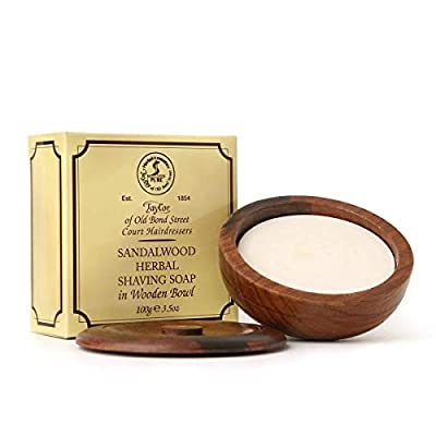 Taylor of Old Bond Street 100g Wooden Bowl Sandalwood Herbal Shaving Soap
