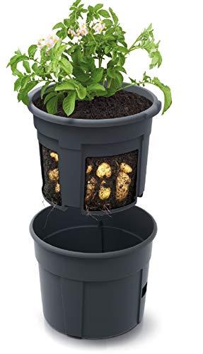 Blumentopf Kartoffel-Pflanztopf Potato Topf 28L Kartoffel-Anzuchttopf Gemüse Kartoffeln Pflanzkübel Pflanztopf Höhe 31,5cm (⌀ 400)