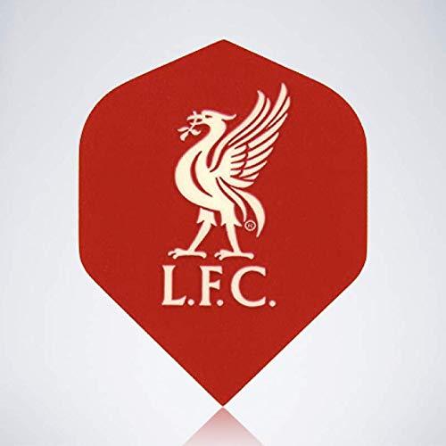 myDartpfeil Rote Standard Dart Flights | FC Liverpool aus Kunststoff | 3er Flight Set | Dartpfeil Flyer