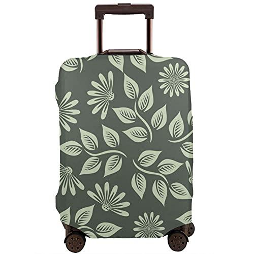 Patrón de flores primavera verde unisex maleta cubierta de polvo resistente al desgaste hoja de impresión protección de equipaje con cubierta de eliminación gratuita