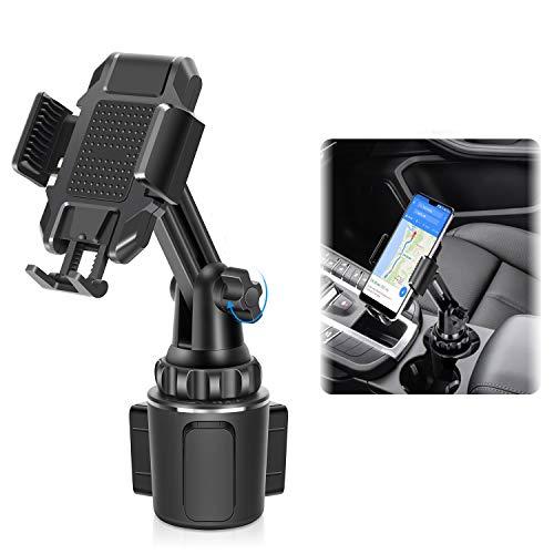 LEXY Handyhalterung Auto Becherhalter, Universal Handy Halterung Halter Kfz-Becherhalter für iPhone12 pro/11/8/7 Xs/XR/Max/X/Plus/Samsung Galaxy S20/S10/S9 Note Nexus Sony/HTC/Huawei/Nokia