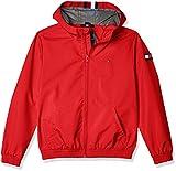 Tommy Hilfiger Hooded Tape Jacket Chaqueta, Rojo (Deep Crimson 106/880 Xnl), 80 para Niños