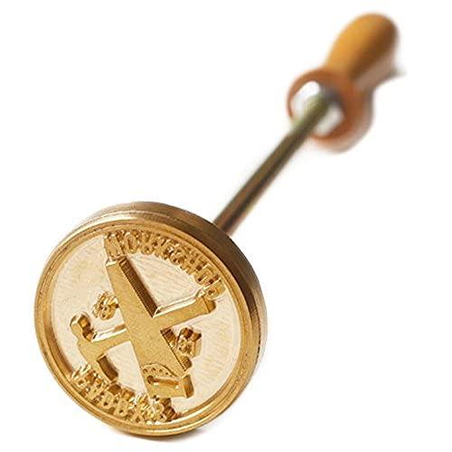 Logo personnalisé/fer à marquer en bois/fer à steak/marque en cuir (taille plus petite que 3,5 x 3,5 cm).