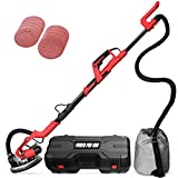 POWER PRO 1850 Electric Drywall Sander - Variable Speed 1000-1850rpm, 750 Watts, with Automatic Vacuum System, LED Light, and Tool Case (1850)