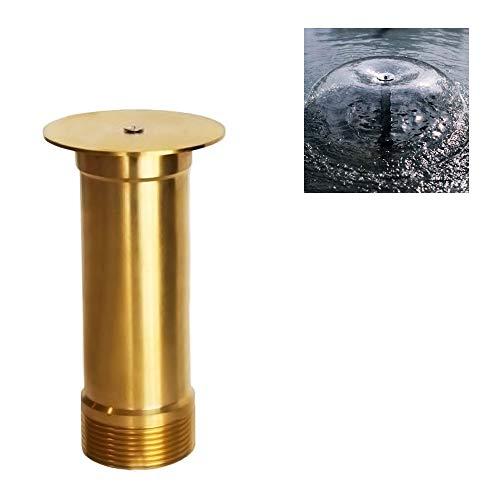 NAVADEAL Display Bell Fountain Nozzle - 1/2' DN15 & 3/4' DN20 Brass Water Spray Sprinkler - for Garden Pond, Amusement Park, Museum, Library
