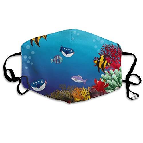 Sea World - Máscara unisex ajustable antipolvo, lavable, reutilizable
