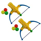 NUOBESTY 2 Set Ping Pong Balls Shooting Toy Archery Bow and Arrow Toys Table Tennis Shooter Game Parent -Child...