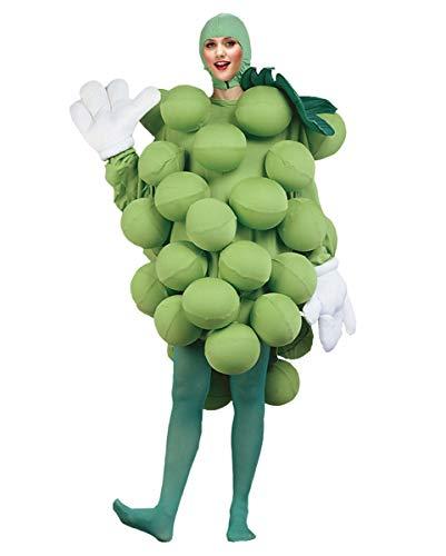 Horror-Shop Lustiges grünes Weintrauben-Rebe Deluxe Kostüm mit Luftballons für Fasching